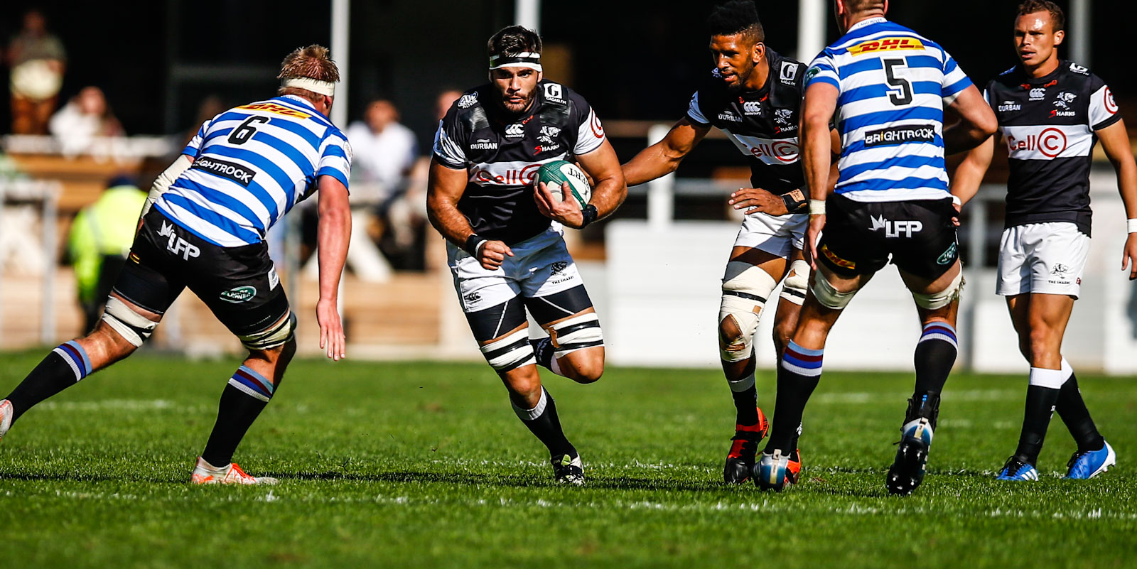 Ruben van Heerden in action against DHL WP in 2019