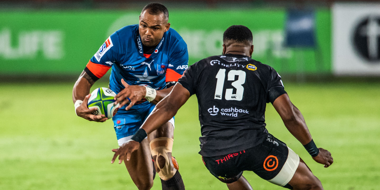 Cornal Hendricks takes on the Cell C Sharks' defence.