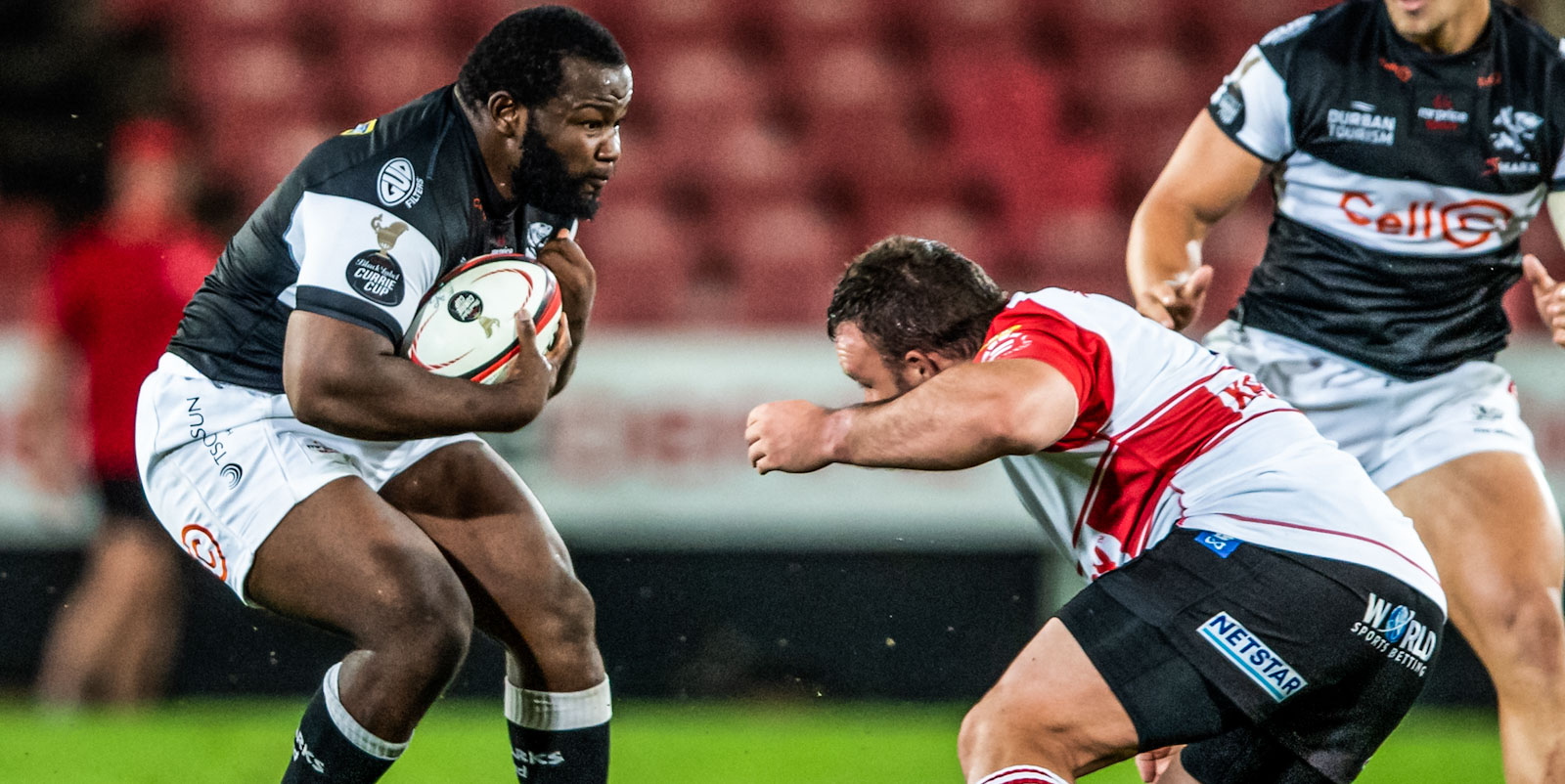 Ox Nche on the charge for the Cell C Sharks