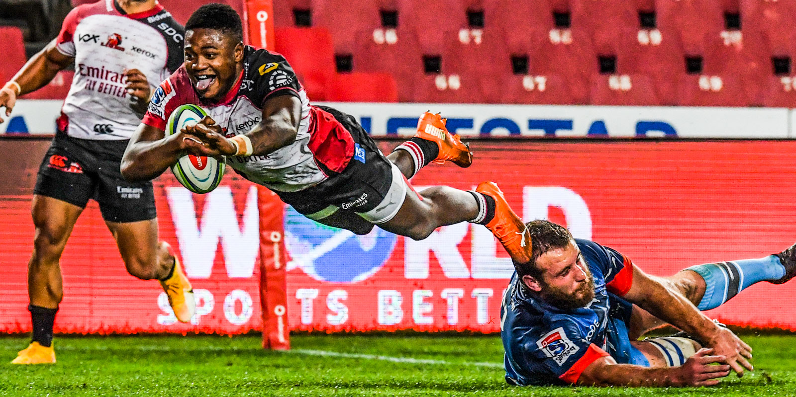 Wandisile Simelane scored a great try earlier in the season against the Vodacom Bulls
