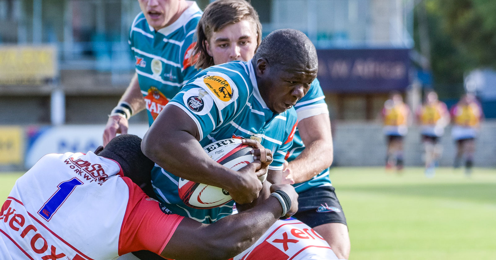 Mox Mxoli on the drive for Tafel Lager Griquas.