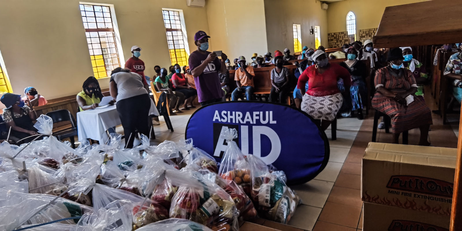 Food parcels in Alexandra