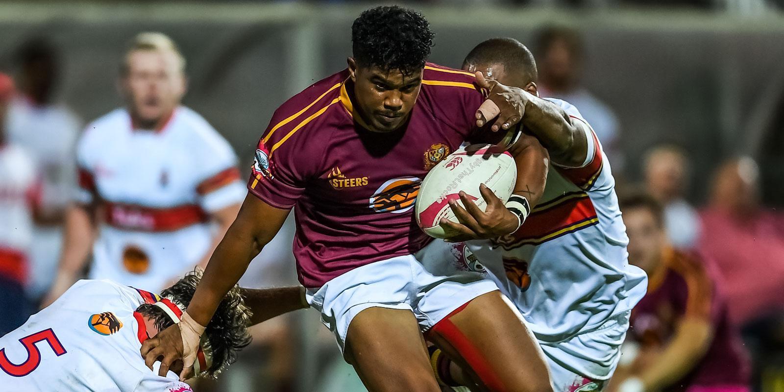 Duncan Saal in action for FNB Maties in the FNB Varsity Cup