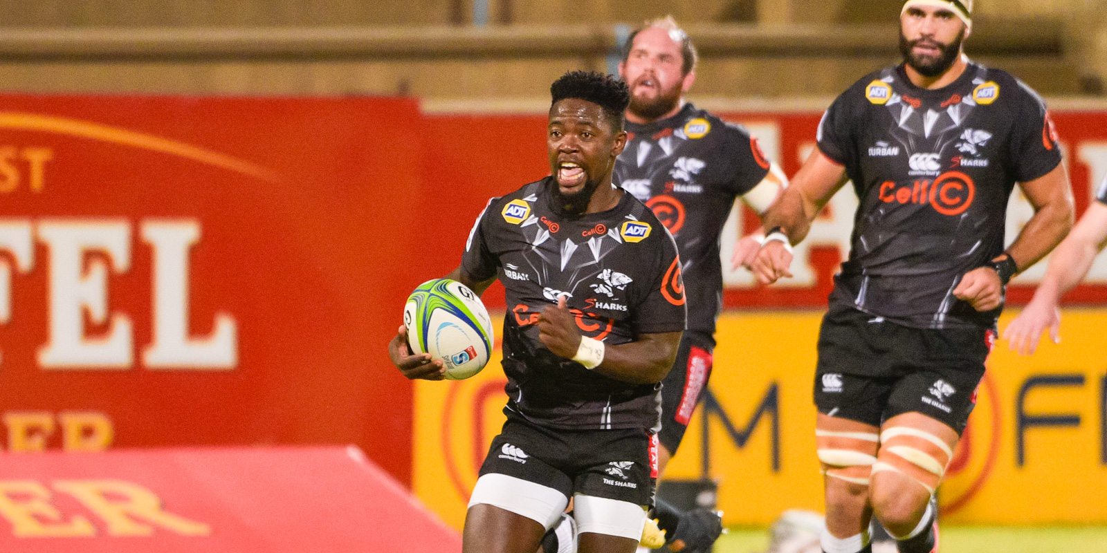Sanele Nohamba scored one of the Cell C Sharks' four tries.