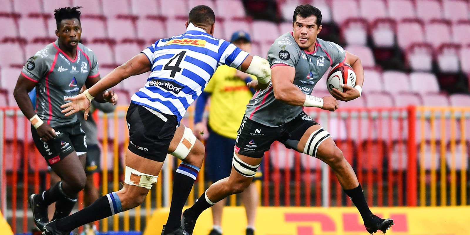 Willie Engelbrecht charging ahead for the Phakisa Pumas.
