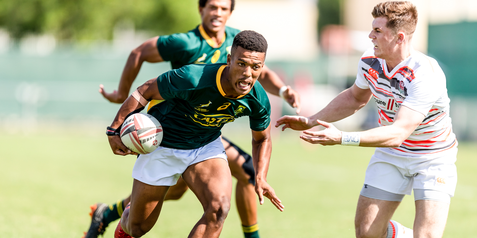 Angelo Davids in action for the Blitzboks